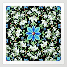 Beaux Arts Folkloric Lily Art Print