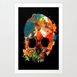 water color skull Art Print