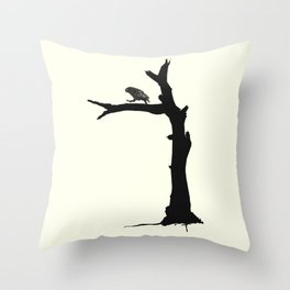 The Little Owl In The Tree Throw Pillow