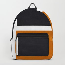 Black Yellow Ochre Rothko Minimalist Mid Century Abstract Color Field Squares Backpack