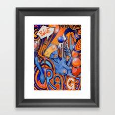 Blue-Orange Framed Art Print