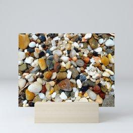 Stones at Potami Beach (Samos Island, Greece) - Desgin 2 Mini Art Print