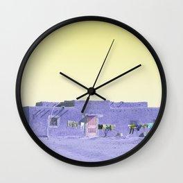 Moroccan Dar in Purple Wall Clock