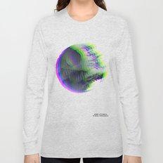 Death Star Glitch Wars Long Sleeve T-shirt