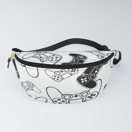 Video Games Black on White Fanny Pack