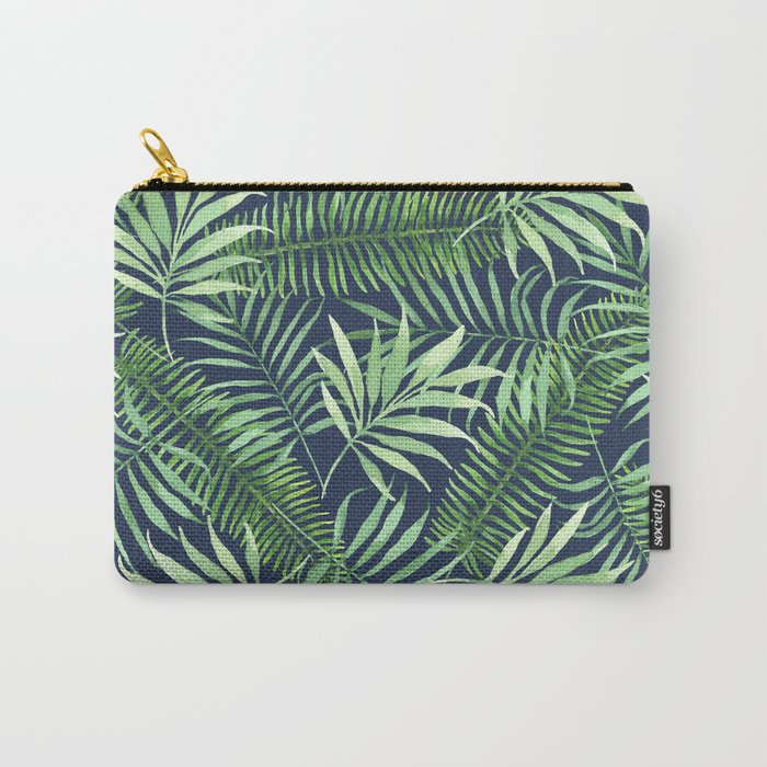 Tropical Branches on Dark Pattern 04 Carry-All Pouch