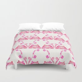 Vintage Rotary Phone – Pink Palette Duvet Cover