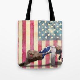 All American Gymnast Watercolor Tote Bag