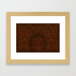 Azteca - Ancient Mexican Pattern II Framed Art Print