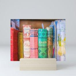 Louisa May Alcott Bookshelf for Book Lovers Mini Art Print