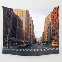 chelsea Wall Tapestries featuring New York City - Summer in Chelsea by Vivienne Gucwa