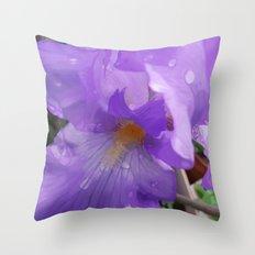 Iris Dew Throw Pillow
