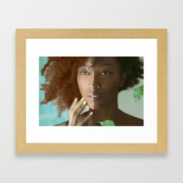 Colorism Split-Face Black Woman Framed Art Print