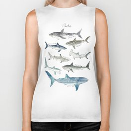 Sharks Biker Tank