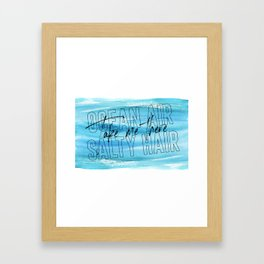 Ocean Air Take Me There Salty Hair, Girls Room, Printable Art, Beach Print Framed Art Print