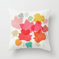 camus Throw Pillows featuring tulipifera 1 by Garima Dhawan