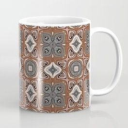 Gray Brown Taupe Beige Tan Black Hip Orient Bali Art Coffee Mug