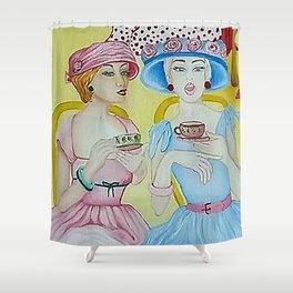 1950 High Tea Shower Curtain