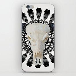 Bull Skull Mandala iPhone Skin