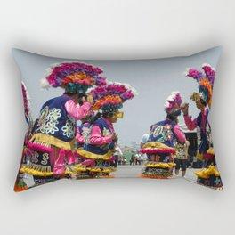Aztec dancers honor Lady of Guadalupe Rectangular Pillow