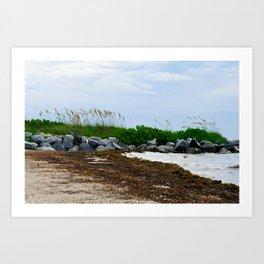 Key Biscayne Beach Art Print