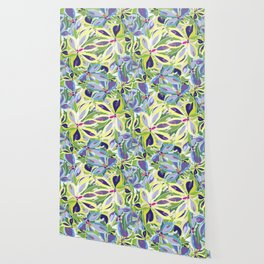 Abstract floral frame Wallpaper