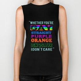 LGBT T-Shirt You're Gay Gift I Don't Care Apparel Biker Tank