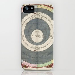 Keller's Harmonia Macrocosmica - Ptolemaic Model of the Solar System 1661 iPhone Case