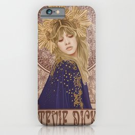 Stevie Nicks Poster Mucha Art Nouveau Art Print iPhone Case