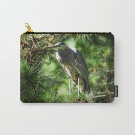 Roosting Great Blue Heron Carry-All Pouch