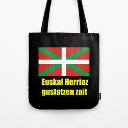 Flag of Euskal Herria 5 -Basque,Pays basque,Vasconia,pais vasco,Bayonne,Dax,Navarre,Bilbao,Pelote,sp Tote Bag