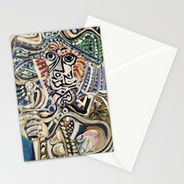 Pablo picasso musketeer with sword Stationery Cards