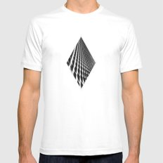 Waves of Iron MEDIUM White Mens Fitted Tee
