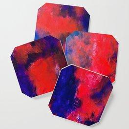Purple abstract 2 Coaster