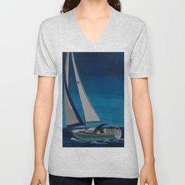 Sail Boat Unisex V-Neck