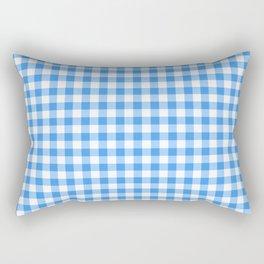 Blue and White Checks Rectangular Pillow