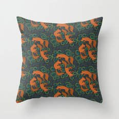 Foxy Pattern Throw Pillow