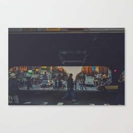 walking in New York v Canvas Print
