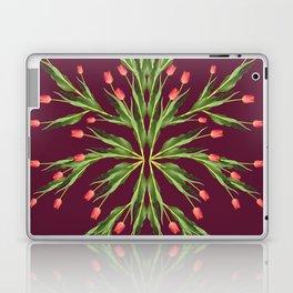 Burgundy and tulips Laptop & iPad Skin