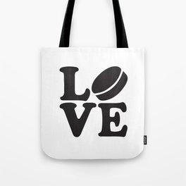 Love Hockey Tote Bag