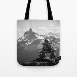 Black Tusk and the Inukshuk Tote Bag