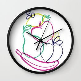 Colorful Fruit Jumble Wall Clock