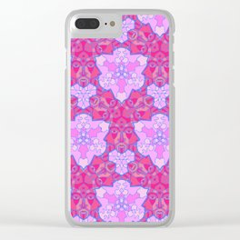 Patterns: Three Faces Clear iPhone Case