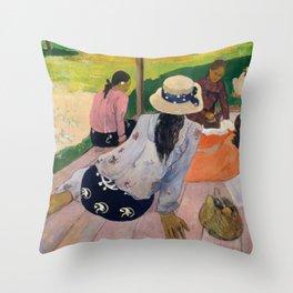 The Siesta (ca. 1892–94) by Paul Gauguin Throw Pillow