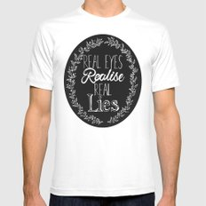 Real Lies Mens Fitted Tee White MEDIUM