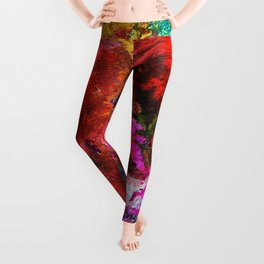 Colorful Heart Art - Everlasting - By Sharon Cummings Leggings