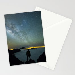 Milky way man Stationery Cards