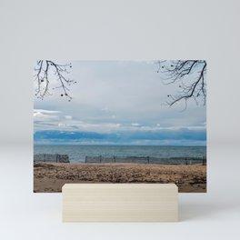 Lake Michigan in November Mini Art Print