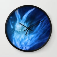 returns Wall Clocks featuring Bluebell Returns by ShadowPaw Pictures