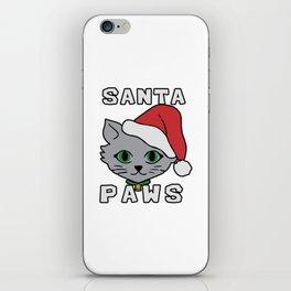 Santa paws cat kitten ugly christmas iPhone Skin